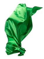 grüner Seidenschal